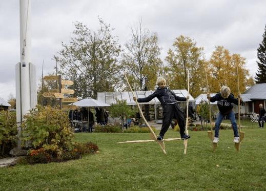 Skördefest med lokala matvaror på Slåtte Gård